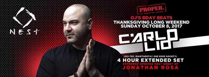 Sound Mind @ Proper Thanksgiving w/ Carlo Lio @ NEST - Toronto, Canada