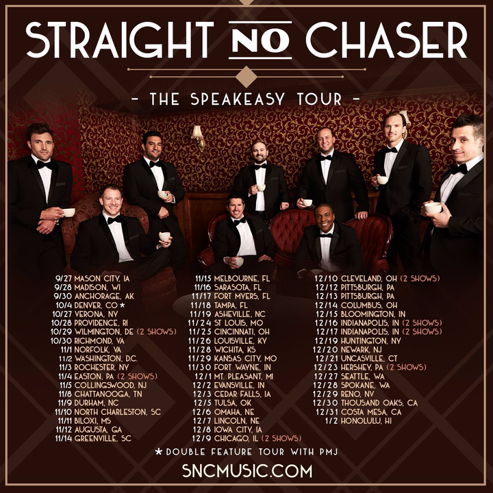 Straight No Chaser @ Scottish Rite Auditorium - Collingswood, NJ
