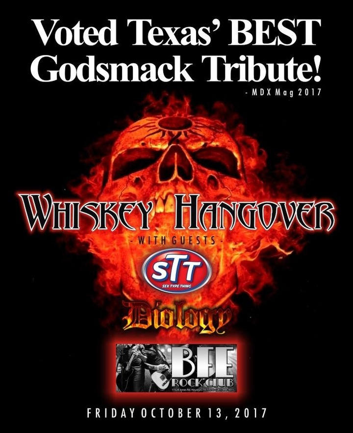 Whiskey Hangover @ BFE Rock Club - Houston, TX