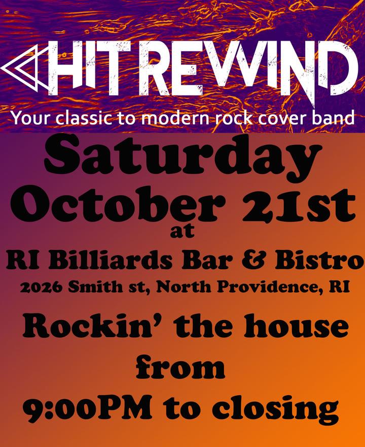 Hit Rewind @ Rhode Island Billiards Bar & Bistro - North Providence, RI