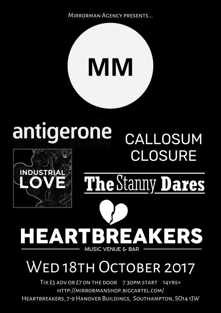 Mirrorman Events @ Heartbreakers - Southampton, United Kingdom