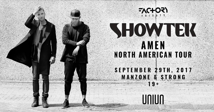 Manzone & Strong @ Uniun Nightclub with SHOWTEK #FactoryFridays - Toronto, Canada