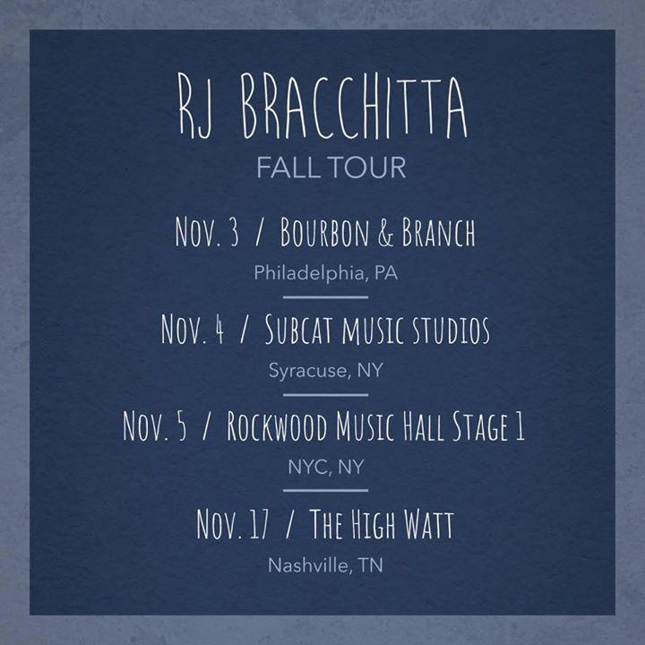 RJ Bracchitta Music Tour Dates