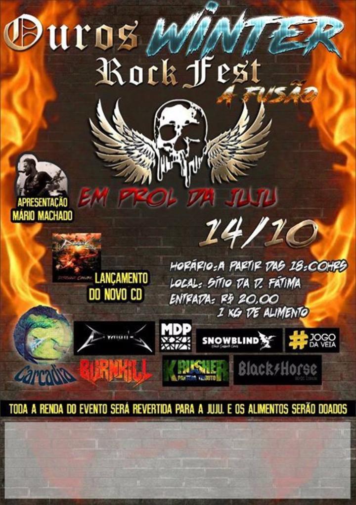 Burnkill @ Ouros Winter Rock Fest A Fusão (Em prol da Juju) - Conceição Dos Ouros, Brazil