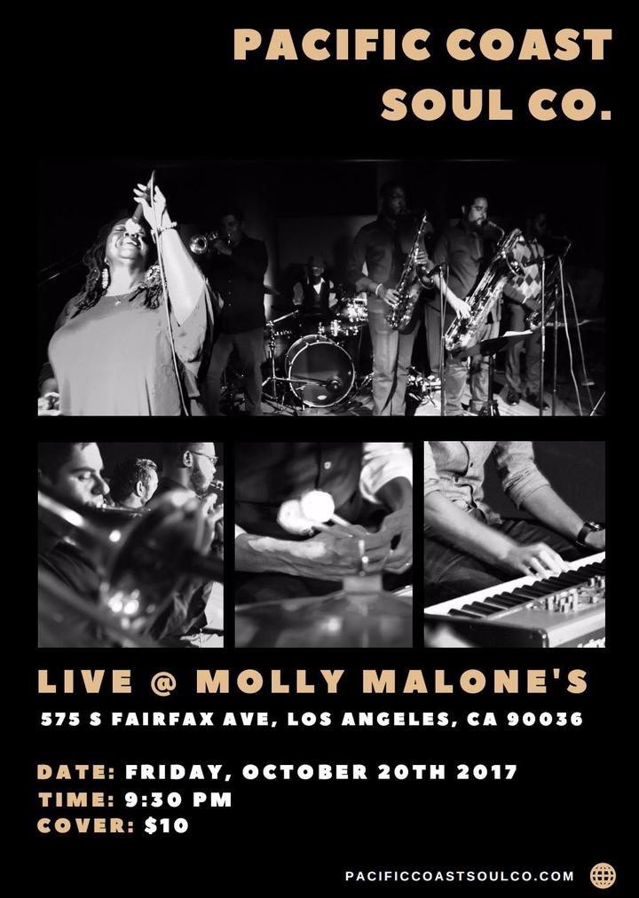 Pacific Coast Soul Co. @ Molly Malone's - Los Angeles, CA