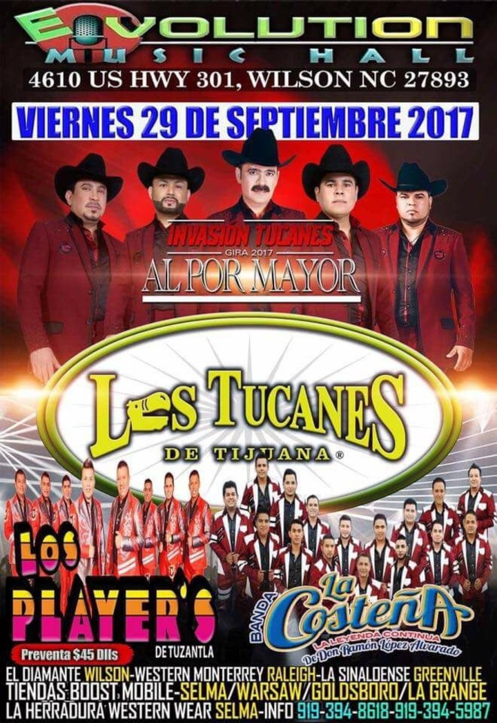 Los Tucanes de Tijuana @ Evolution Music Hall - Wilson, NC