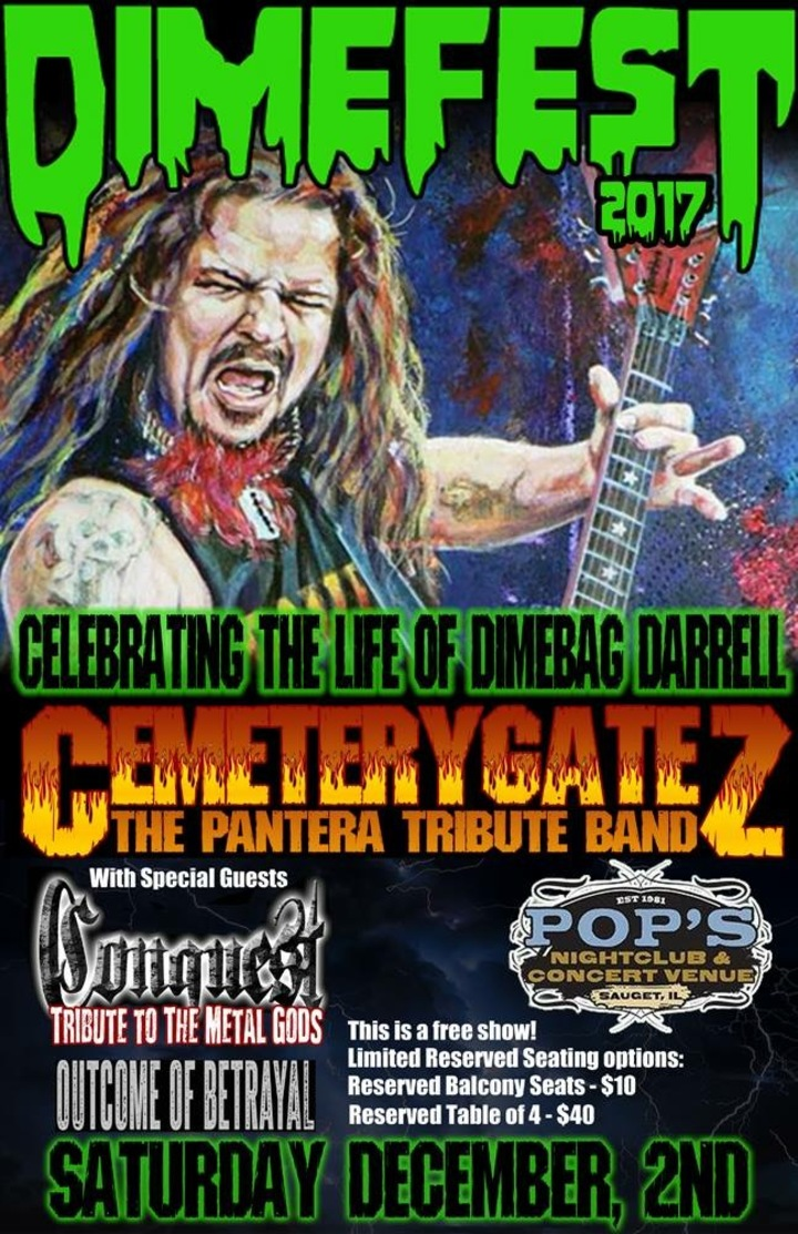 Cemetery Gatez (The Pantera Tribute Band) @ Pop's Nightclub & Concert Venue - Sauget, IL