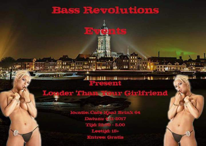 Hardnoiser @ Bass Revolution Presents Louder Then Your Girlfriend - Cafe Kaal - Deventer, Netherlands
