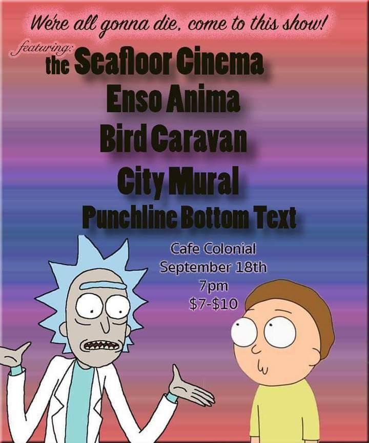 Punch Line Bottom Text @ Cafe Colonial - Sacramento, CA