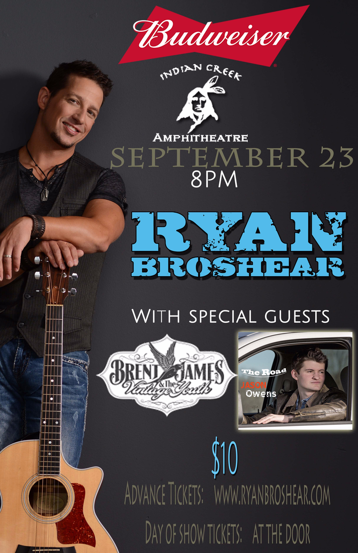 Ryan Broshear @ Indian Creek Amphitheatre  - Oxford, OH