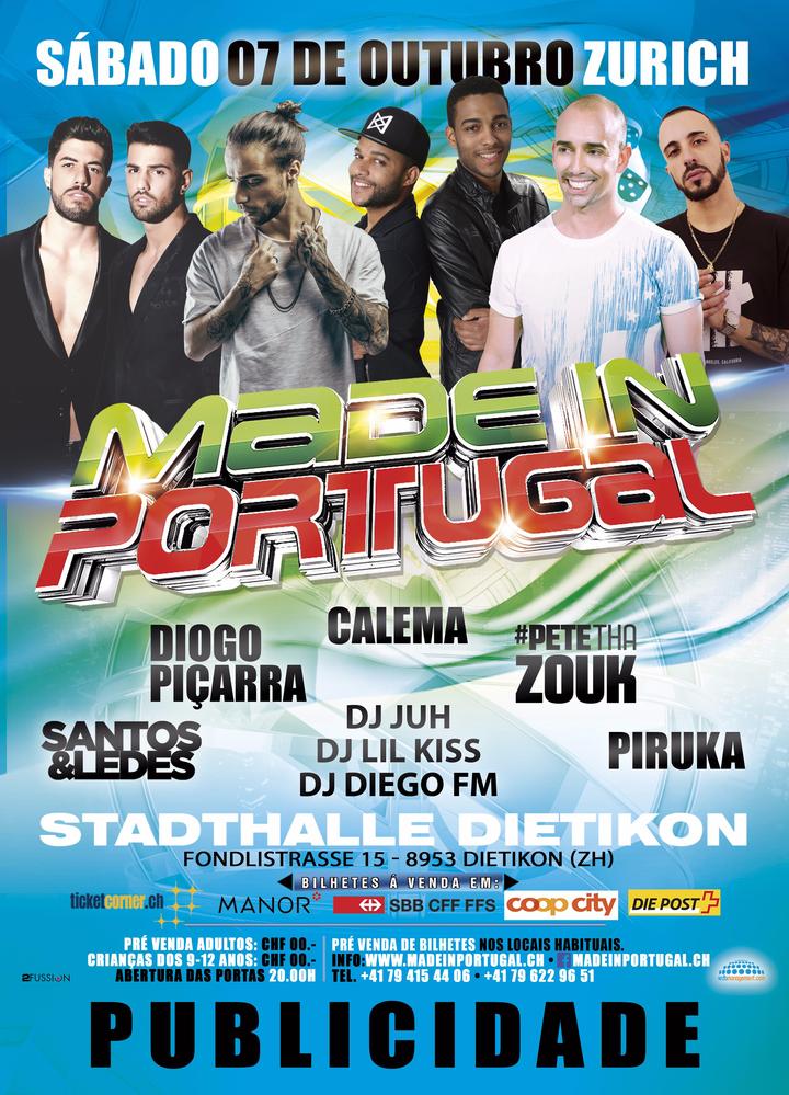 Pete tha Zouk @ Made In Portugal - Stadthalle Dietikon - Zurich, Switzerland