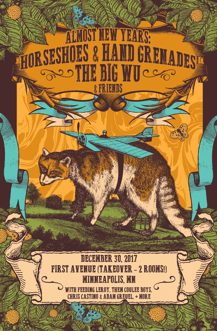 Horseshoes & Hand Grenades @ First Avenue - 2 Room Takeover!  (w/The Big Wu, Them Coulee Boys, Feeding Leroy, Chris Castino & Adam Greuel) - Minneapolis, MN