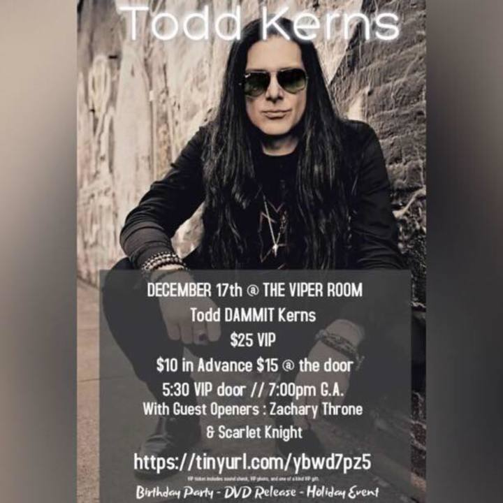 Todd Kerns @ Bowery Electric - New York, NY