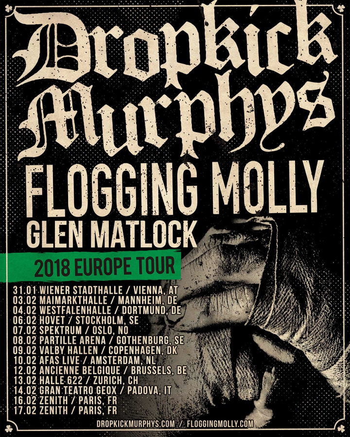Flogging Molly @ Maimarkthalle - Mannheim, Germany