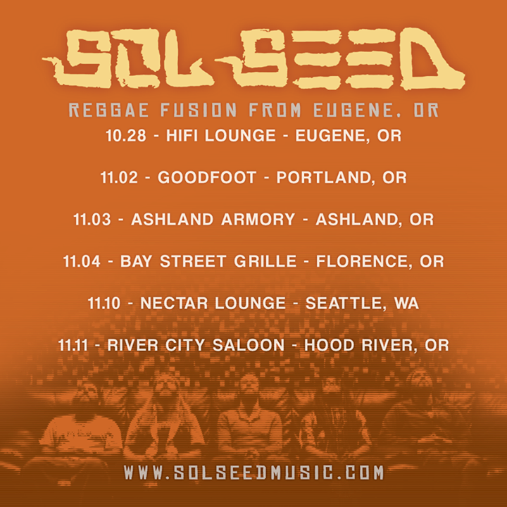 Sol Seed Tour Dates