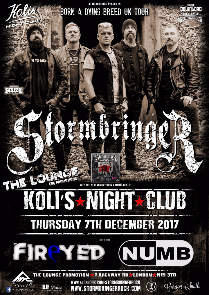 Stormbringer @ Nightclub Kolis - London, United Kingdom