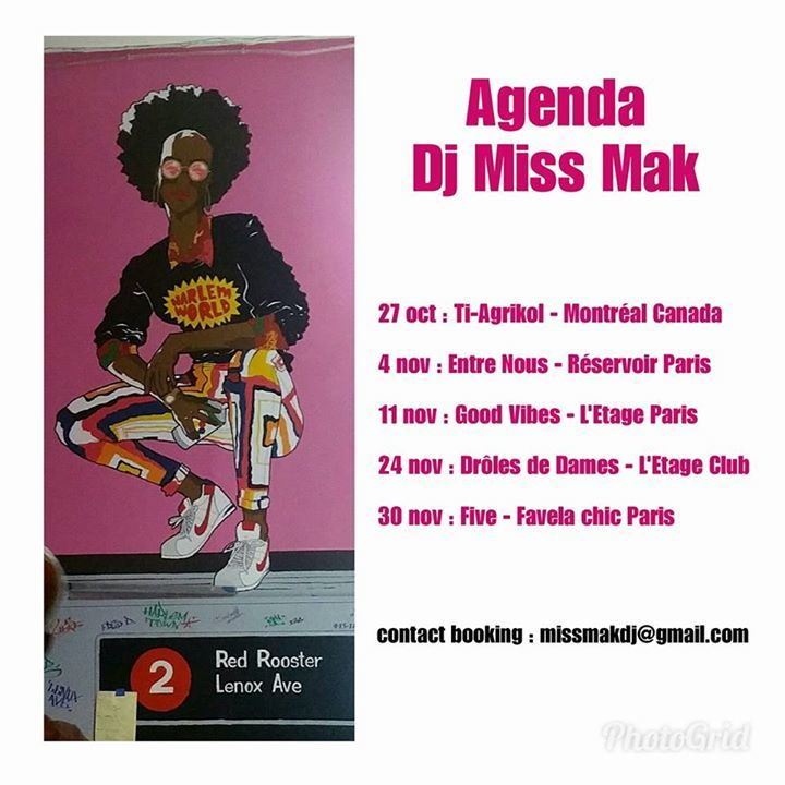 Dj Miss MAK Tour Dates
