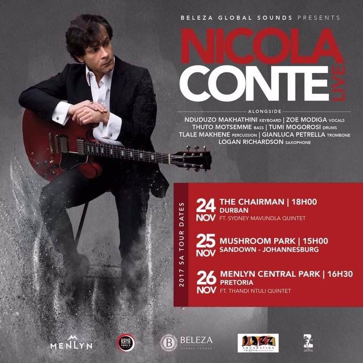 Nicola Conte @ Menlyn Central Park - Pretoria, South Africa
