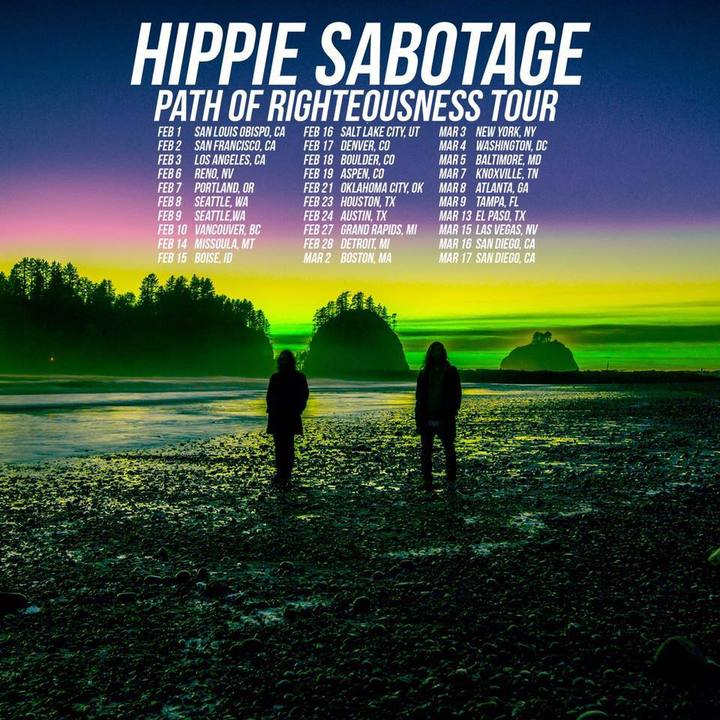 Hippie Sabotage Tour Dates