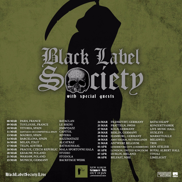 Black Label Society @ Huxleys Neue Welt - Berlin, Germany