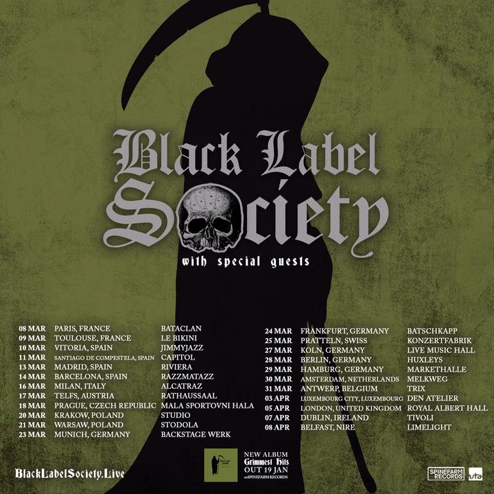 Black Label Society @ Markthalle - Hamburg (Altstadt), Germany