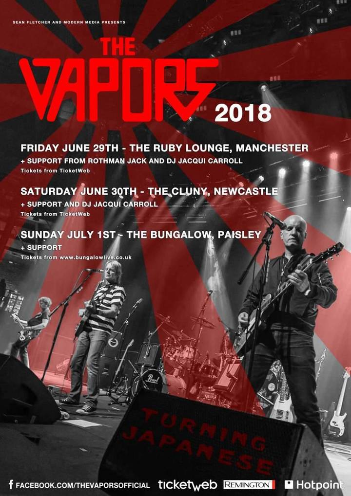 The Vapors @ The Ruby Lounge - Manchester, United Kingdom