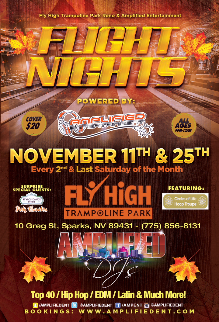 Amplified Entertainment @ Fly High Trampoline Park - Sparks, NV