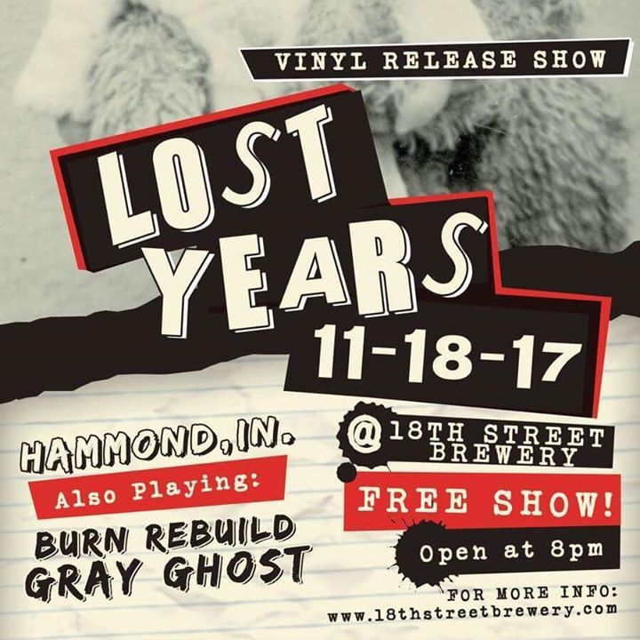 Lost Years Tour Dates