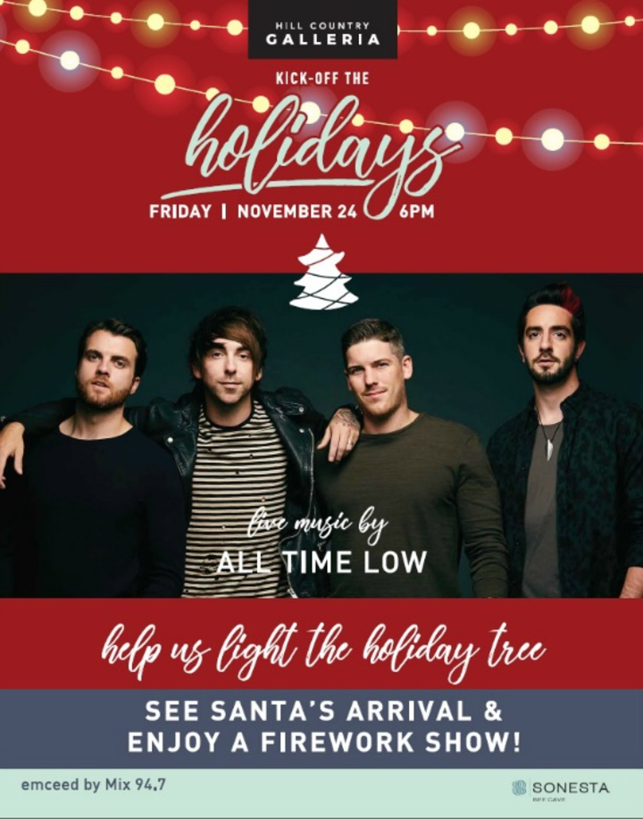 All Time Low @ Hill Country Galleria - Bee Cave, TX