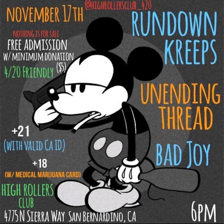Rundown Kreeps @ Alex's Bar - Long Beach, CA