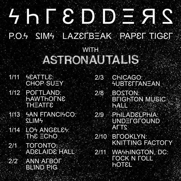 Astronautalis Tour Dates