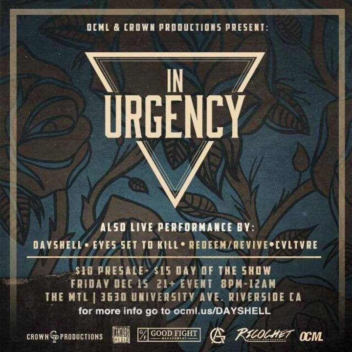 In Urgency Tour Dates