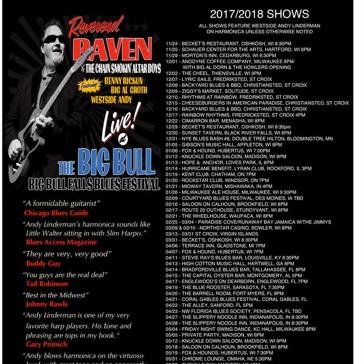 Reverend Raven Tour Dates