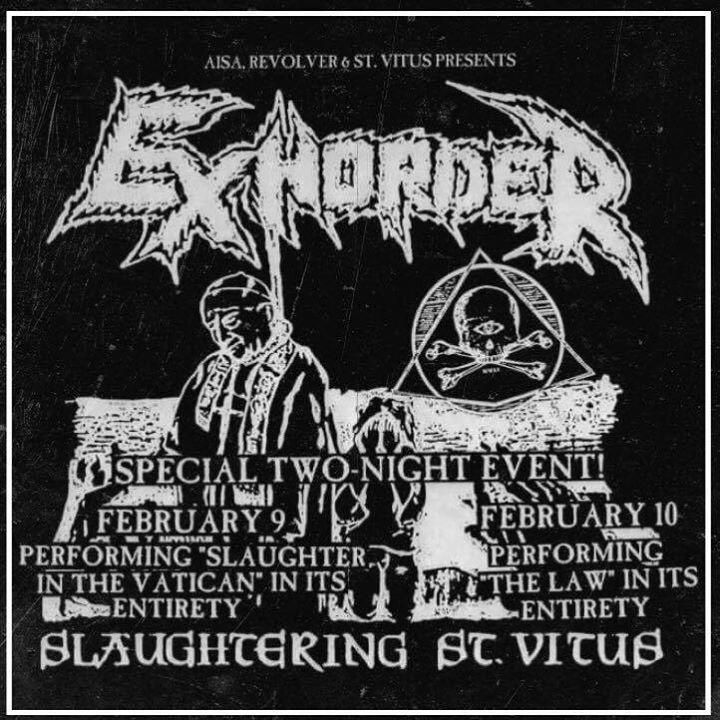 Exhorder Tour Dates
