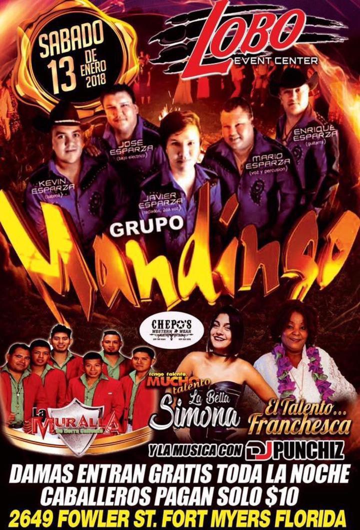 Grupo Mandingo @ Lobo Event Center - Fort Myers, FL