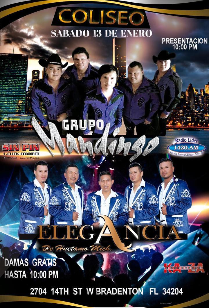 Grupo Mandingo @ Coliseo Ballroom - Bradenton, FL