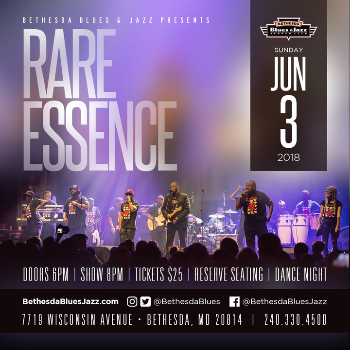 Rare Essence Tickets - Bethesda Blues & Jazz