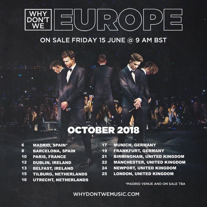Why Don't We Tickets - O13, Oct 16, 2018