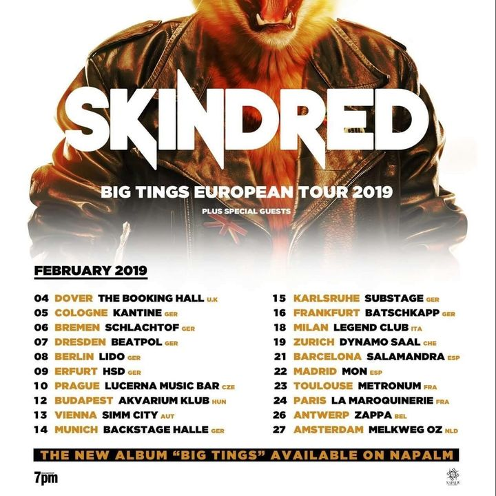Bandsintown | Skindred Tickets - The Booking Hall (Sold Out