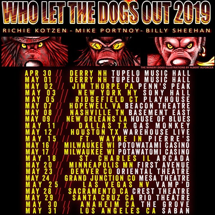 bandsintown the winery dogs tickets tupelo music hall apr 30 2019. Black Bedroom Furniture Sets. Home Design Ideas