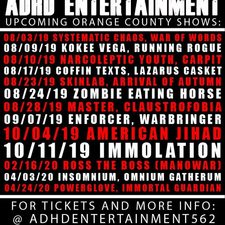 ADHD Entertainment Tour Dates 2019 & Concert Tickets