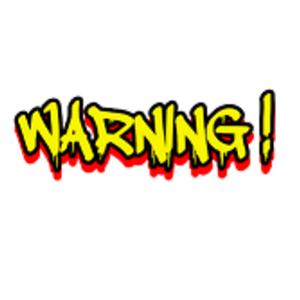 Warning Poisson Rouge