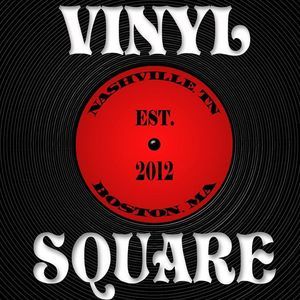 Vinyl Square Smiling Moose