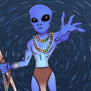 Blue Alien Mystic New York