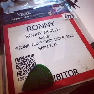 Ronny North at NAMM. Anaheim Convention Center