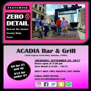 Zero Detail Acadia Bar & Grill
