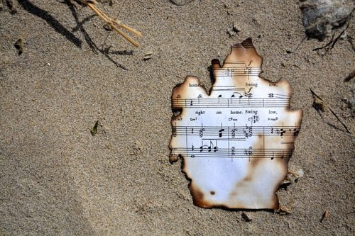 CTOR burnt sheet music