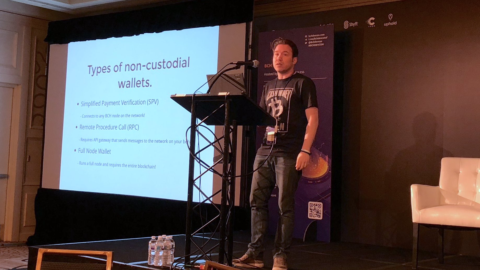 Coinbase's Josh Ellithorpe speaks at BCH DEVCON in San Francisco