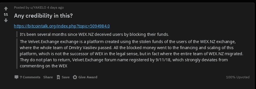 WEX scam