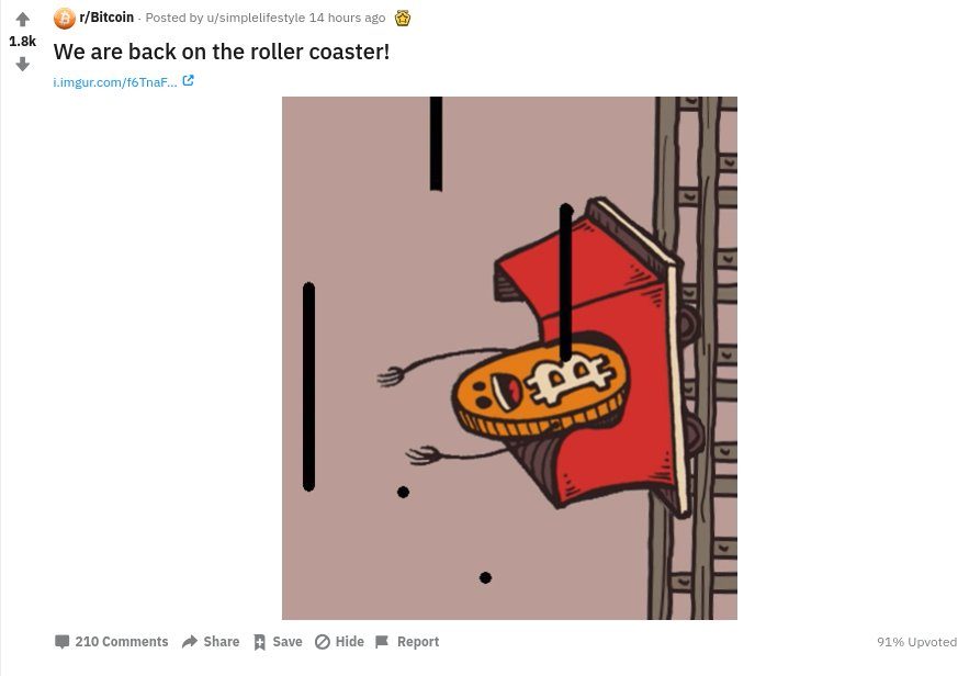 Bitcoin price rollercoaster
